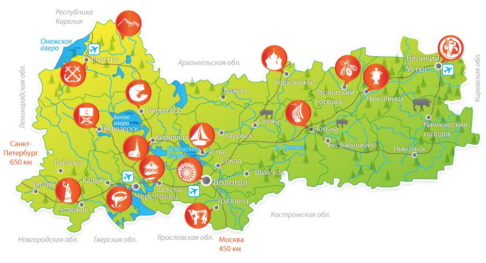 Карта области наша